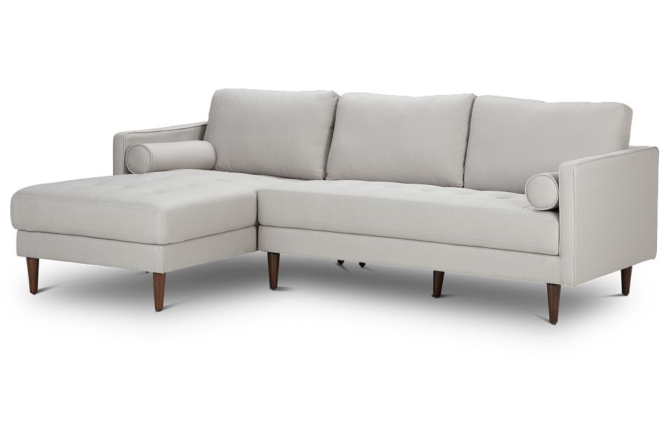 Rue Light Beige FABRIC Left Chaise Sectional,  (1)