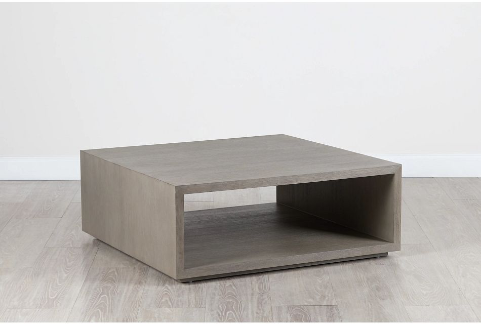 Nixon Light Tone Open Square Coffee Table