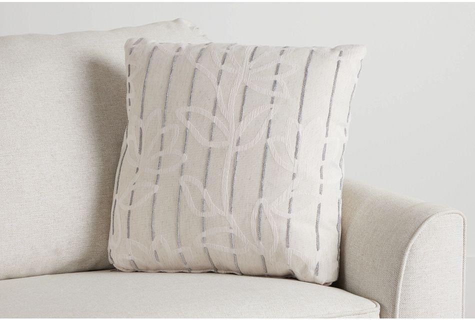 "Beca Gray Fabric 20"" Accent Pillow,  (0)"