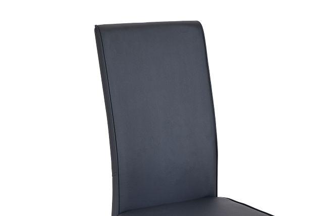 Paris Black Upholstered Side Chair