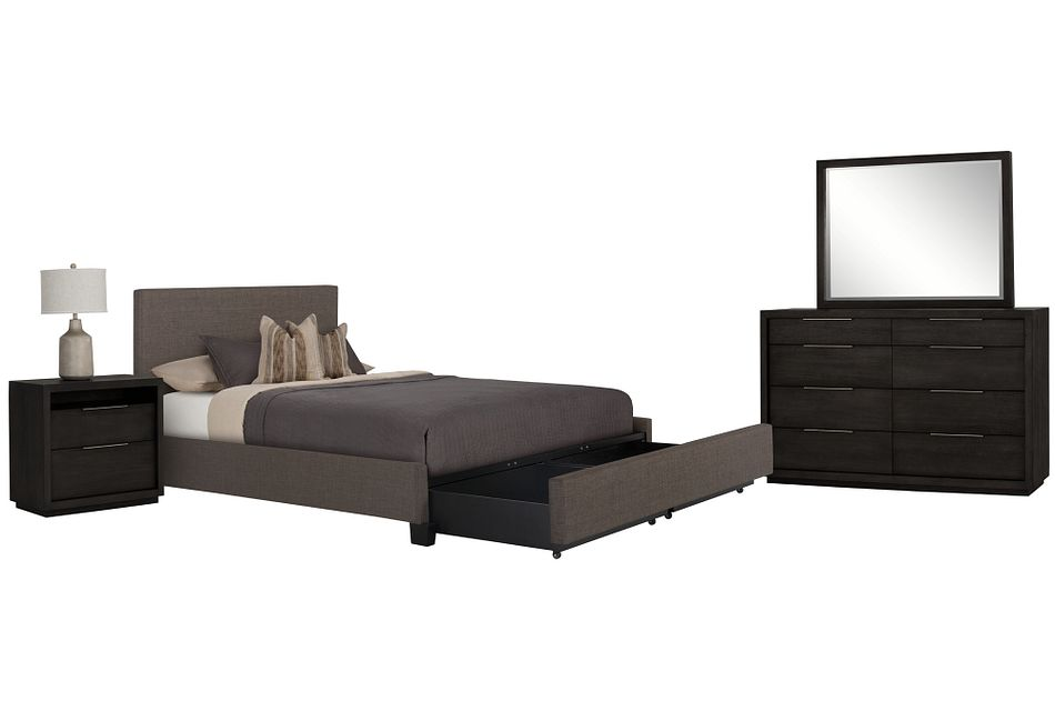 Madden Gray Uph Platform Storage Bedroom