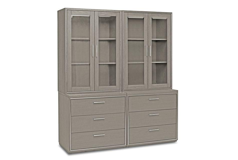 Highline Gray Drawer Bookcase