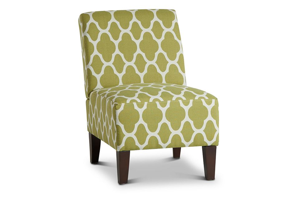 Comet Light Green Fabric Accent Chair