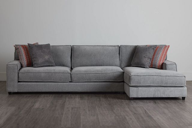 Taylor Gray Fabric Right Chaise Sectional (0)