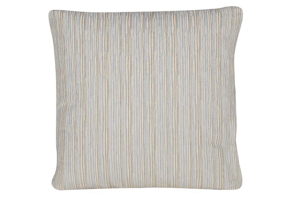 Cinna Light Blue Stripe Square Accent Pillow