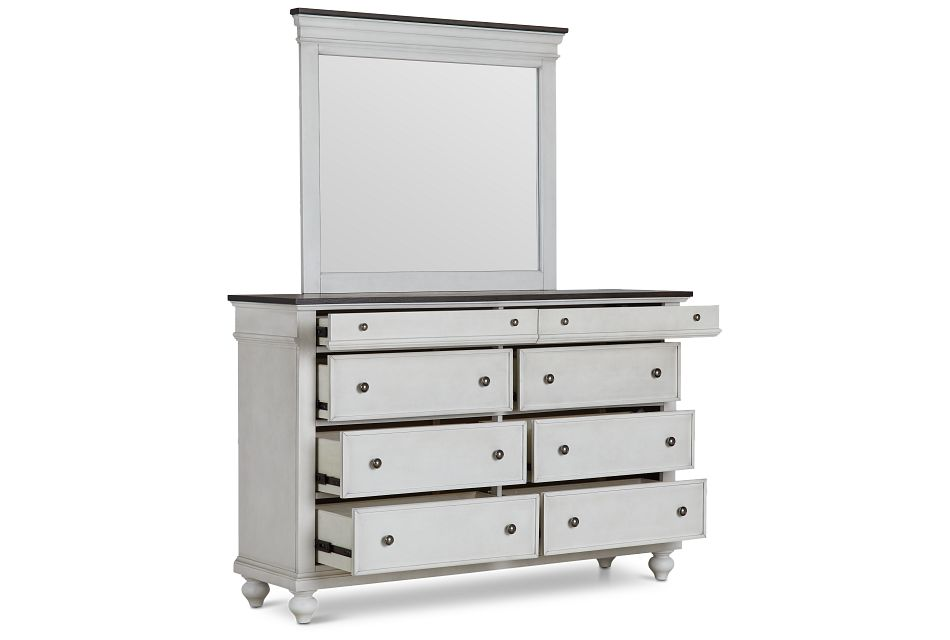 Grand Bay Two-tone Wood Dresser & Mirror