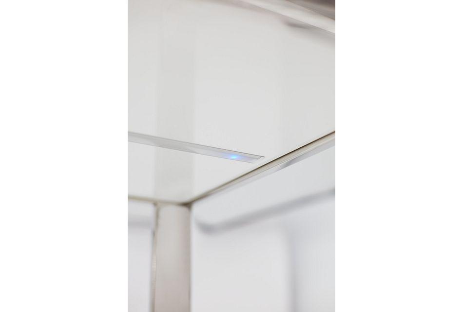 Miami White Glass Entertainment Wall
