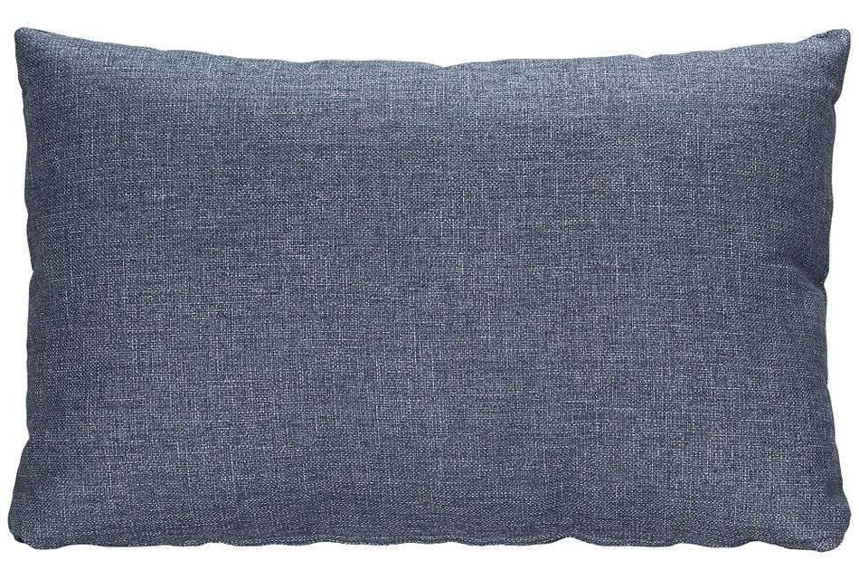 Harper Dark Blue Fabric Rectangular Accent Pillow