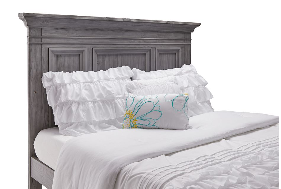 Westport Light Gray Panel Bed