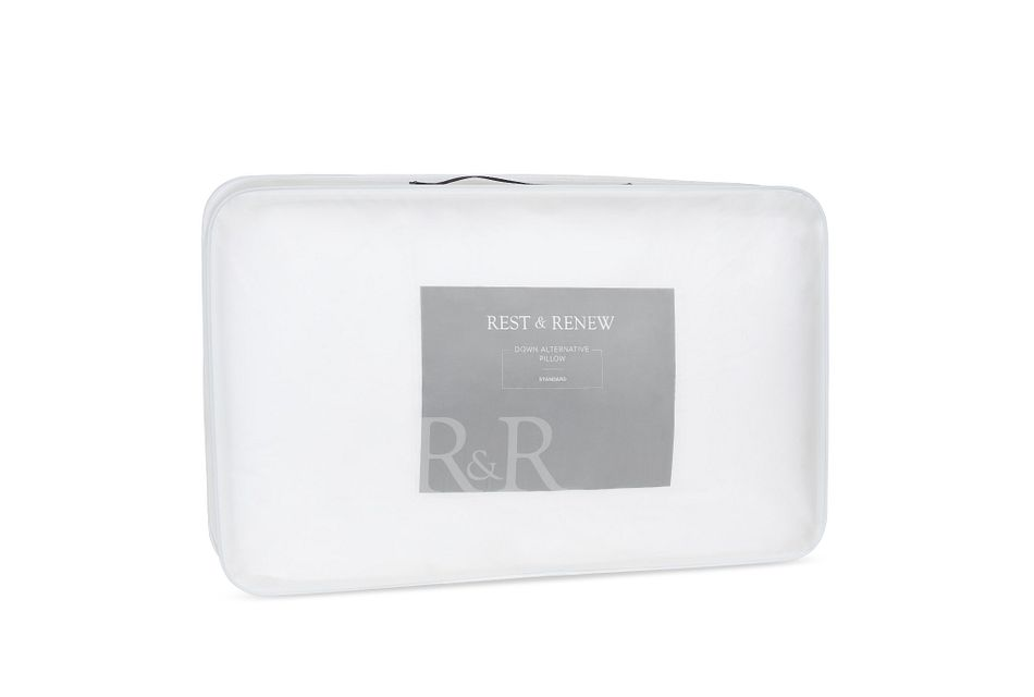 Rest & Renew Down Alternative Back Sleeper Pillow