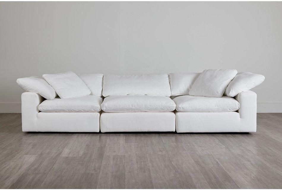 Nixon White Fabric 3 Piece Modular Sofa,  (0)