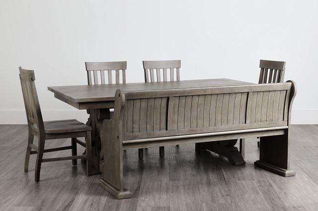 Sonoma Light Tone Trestle Table, 4 Chairs & Bench (0)