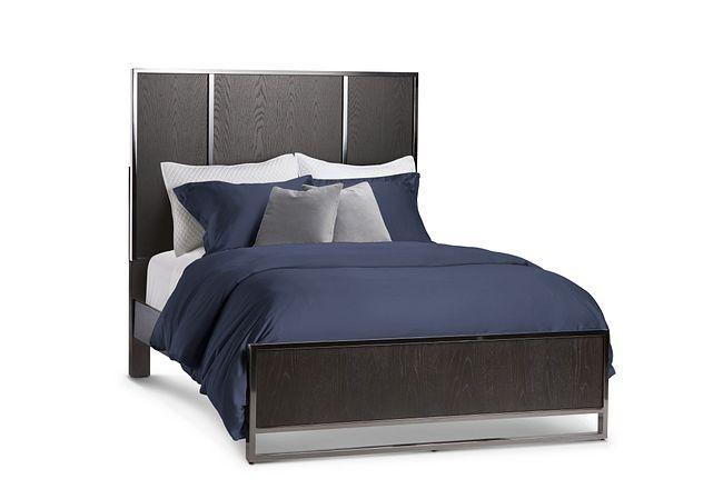 Tribeca Dark Tone Panel Bed