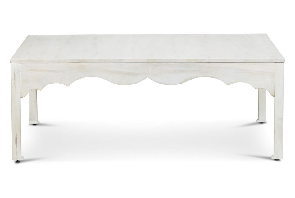 Stacey White Square Coffee Table