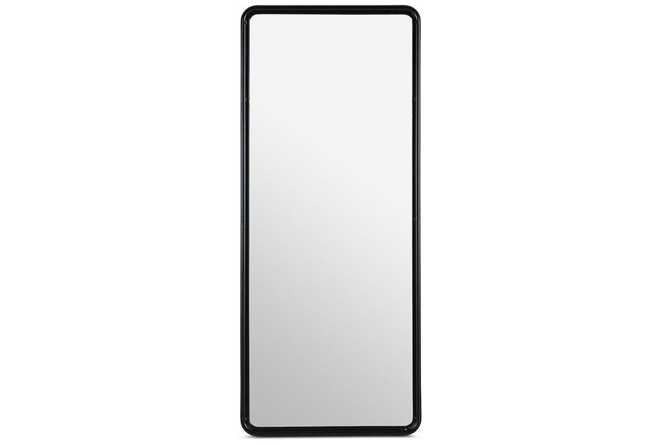 Reno Black Metal Floor Mirror