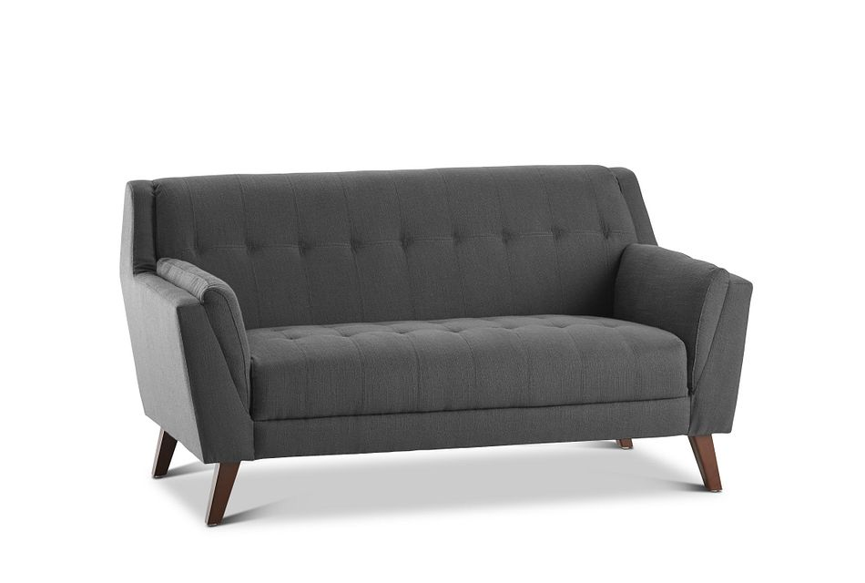 Tahoe Dark Gray  Fabric Loveseat