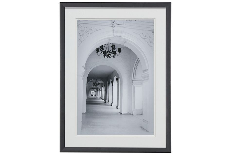 Atrium Gray Framed Wall Art
