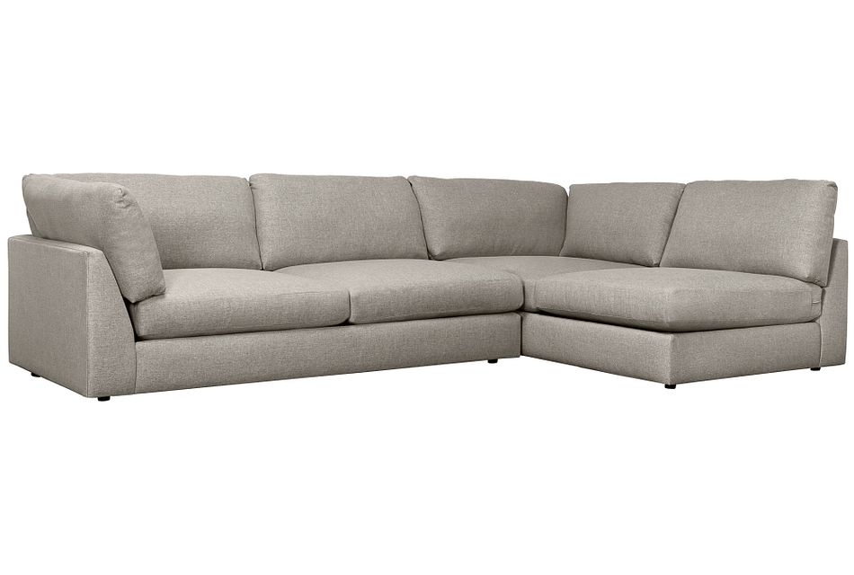 Harper Gray Fabric Small Left Arm Sectional