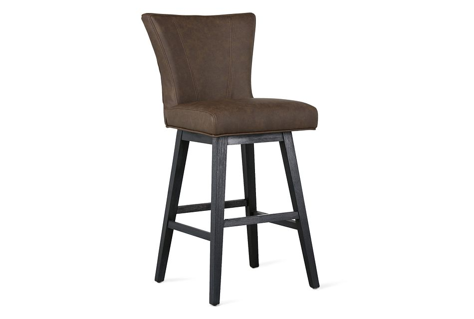 "Lori Dark Brown Micro 30"" Swivel Barstool"