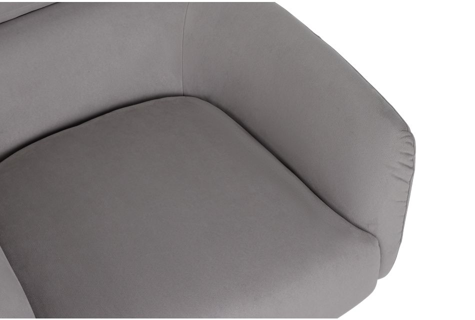 Wynn Light Gray Micro Swivel Accent Chair,  (1)