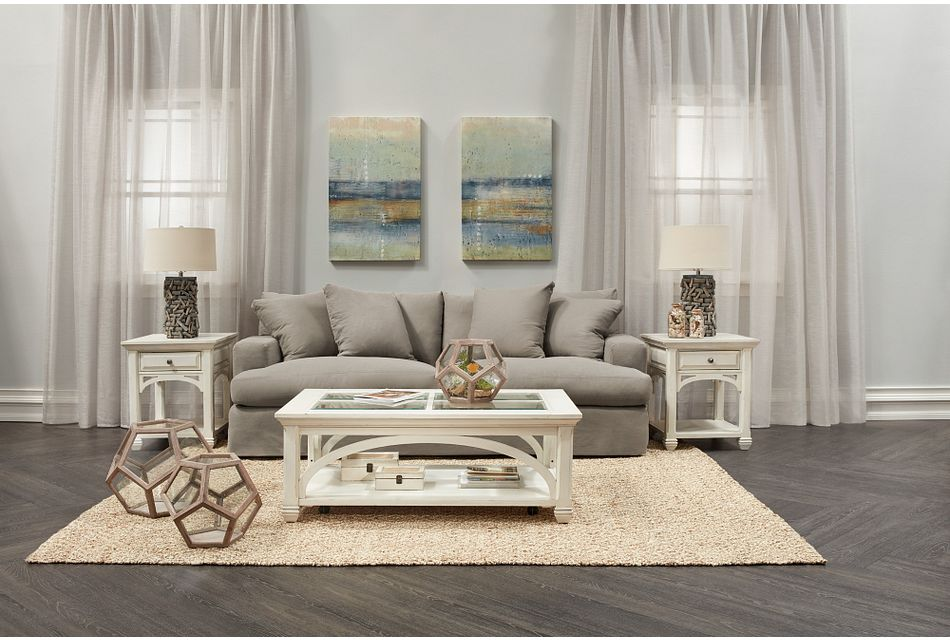 Delilah Gray Fabric Living Room