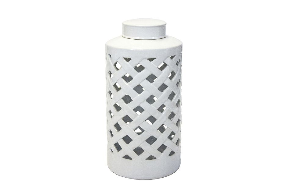 Weave White Large Tabletop Accessory
