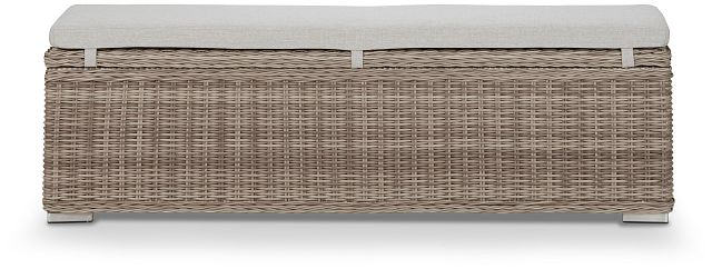 Raleigh Gray Woven Dining Bench (3)