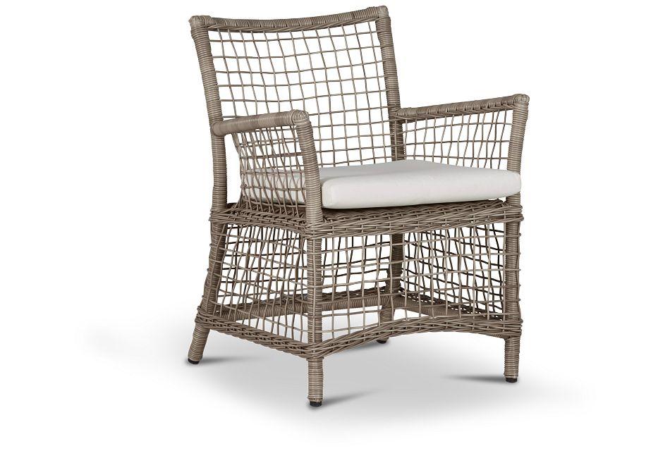 Raleigh White Woven Arm Chair,  (0)