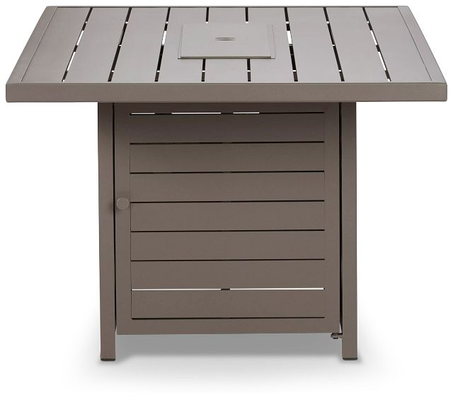 Raleigh Taupe Rect Fire Pit