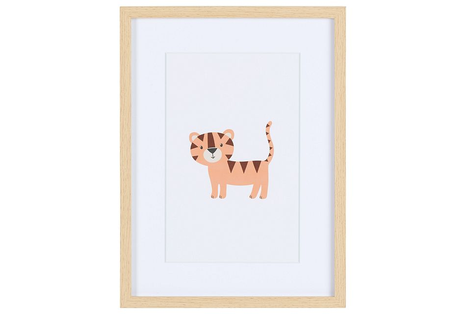 Hobbes Orange Framed Wall Art