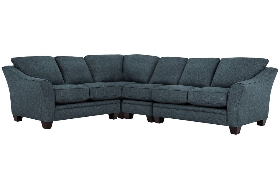 Avery Dark Blue Fabric Large Two-arm Sectional