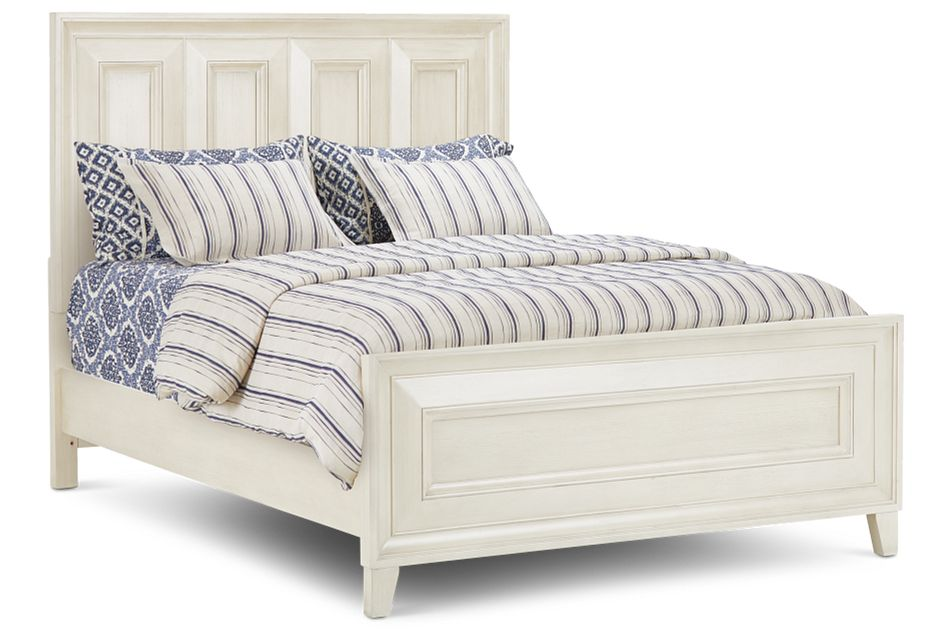 Dawson Ivory Panel Bed, Queen (1)