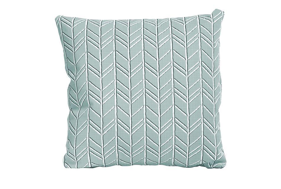 """Bogatell Light Blue 20"""" Indoor/outdoor Accent Pillow"""