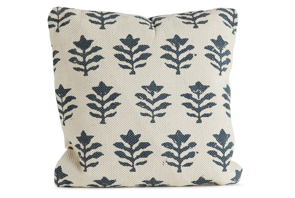 Jaime Blue Square Accent Pillow
