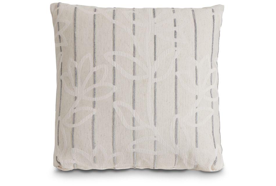 "Beca Gray Fabric 20"" Accent Pillow,  (1)"