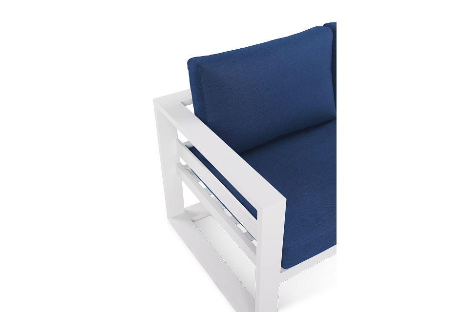 Lisbon Navy Aluminum Chaise Sectional