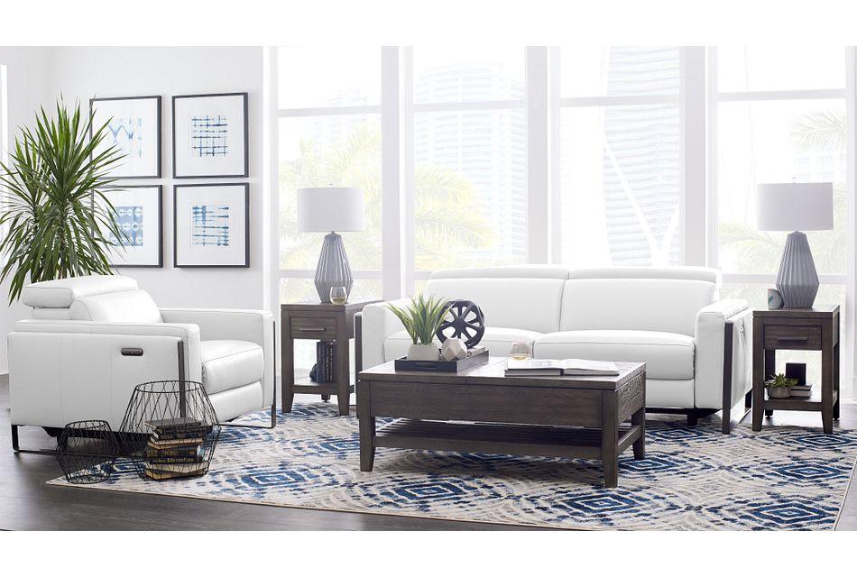 Atlas White Lthr/vinyl Power Reclining Living Room
