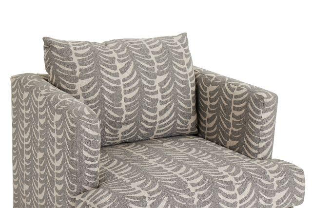 Bianca Gray Fabric Swivel Accent Chair