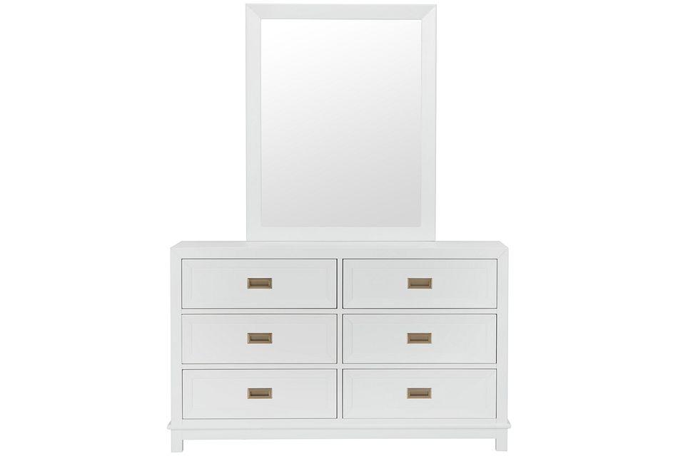 Ryder White Dresser & Mirror
