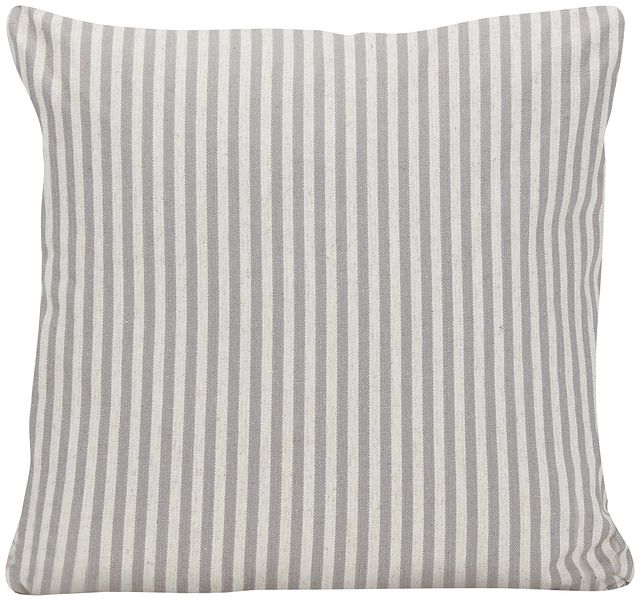Scout Gray Stripe Square Accent Pillow (0)