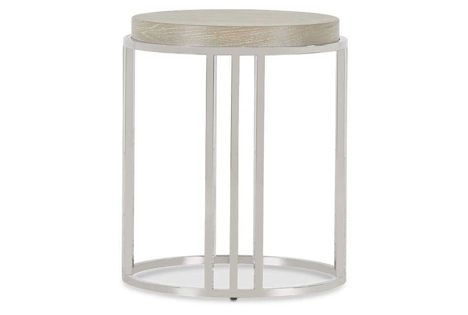 Zephyr Light Tone Round End Table