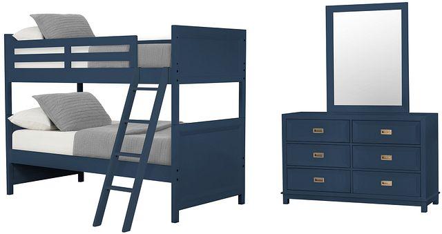 Ryder Dark Blue Bunk Bed Bedroom (0)