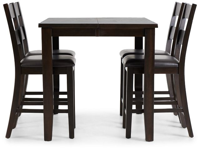 Navarro Dark Tone High Table & 4 Barstools (2)
