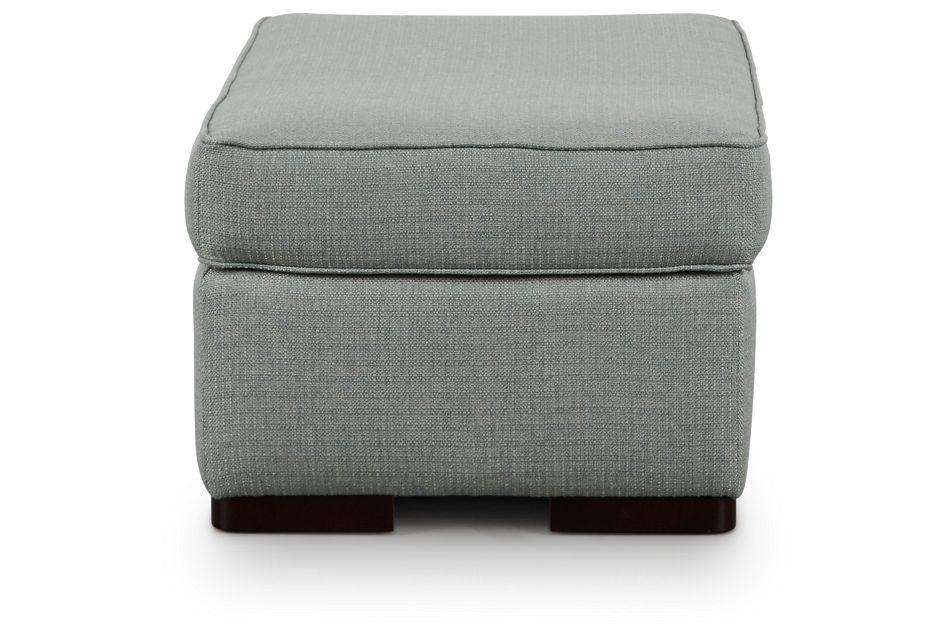 Austin Green Fabric Ottoman,