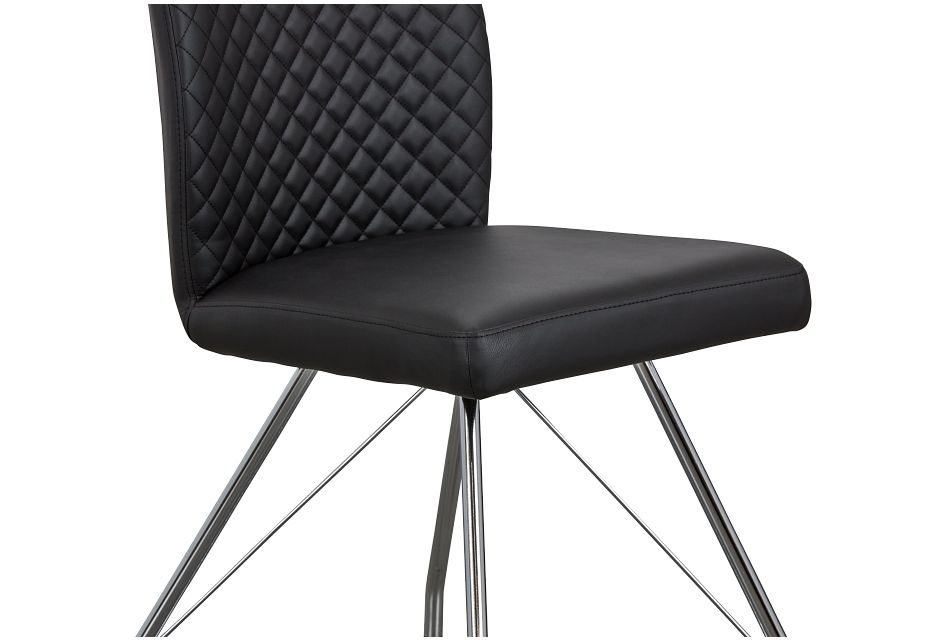 Lima Black Upholstered Side Chair