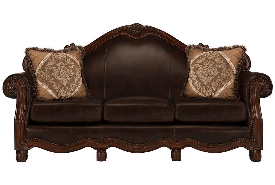 Regal Dark Tone Leather Sofa