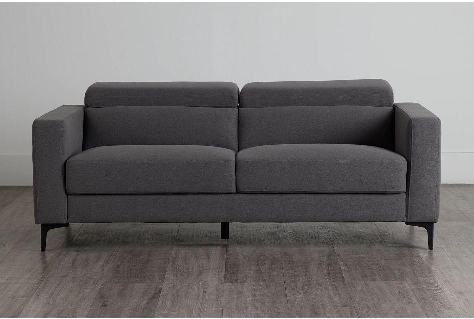 Trenton Dark Gray Fabric Sofa,  (0)