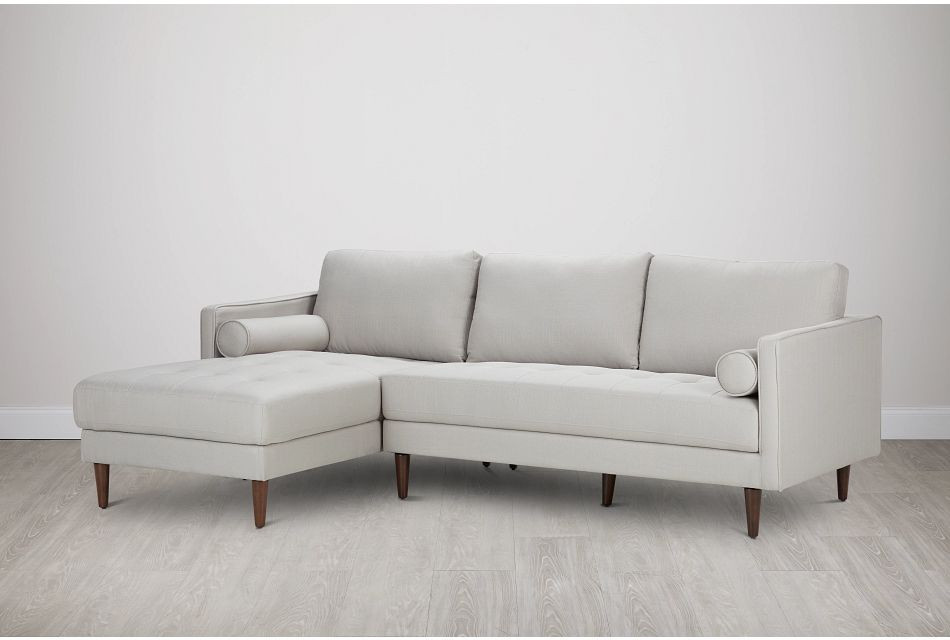 Rue Light Beige FABRIC Left Chaise Sectional,  (0)