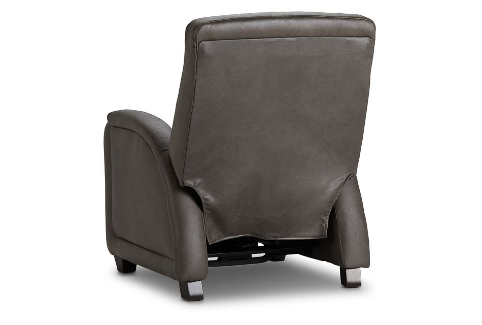 Davis Dark Gray Micro Zero Gravity Power Recliner W/heat & Massage