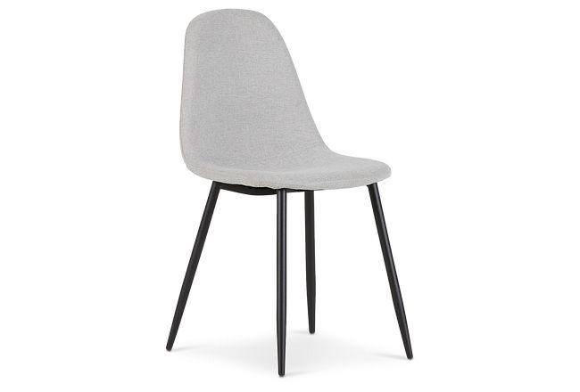 Havana Light Gray Upholstered Side Chair W/ Black Legs